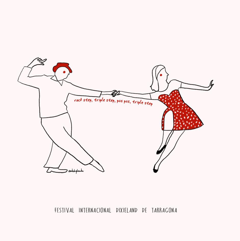 lindy hop - il·lustració by anduluplandu