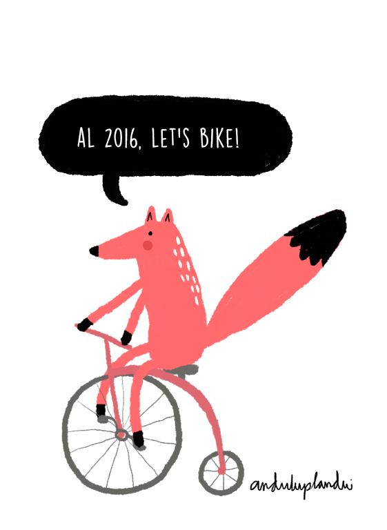 fox en bicicleta by anduluplandu