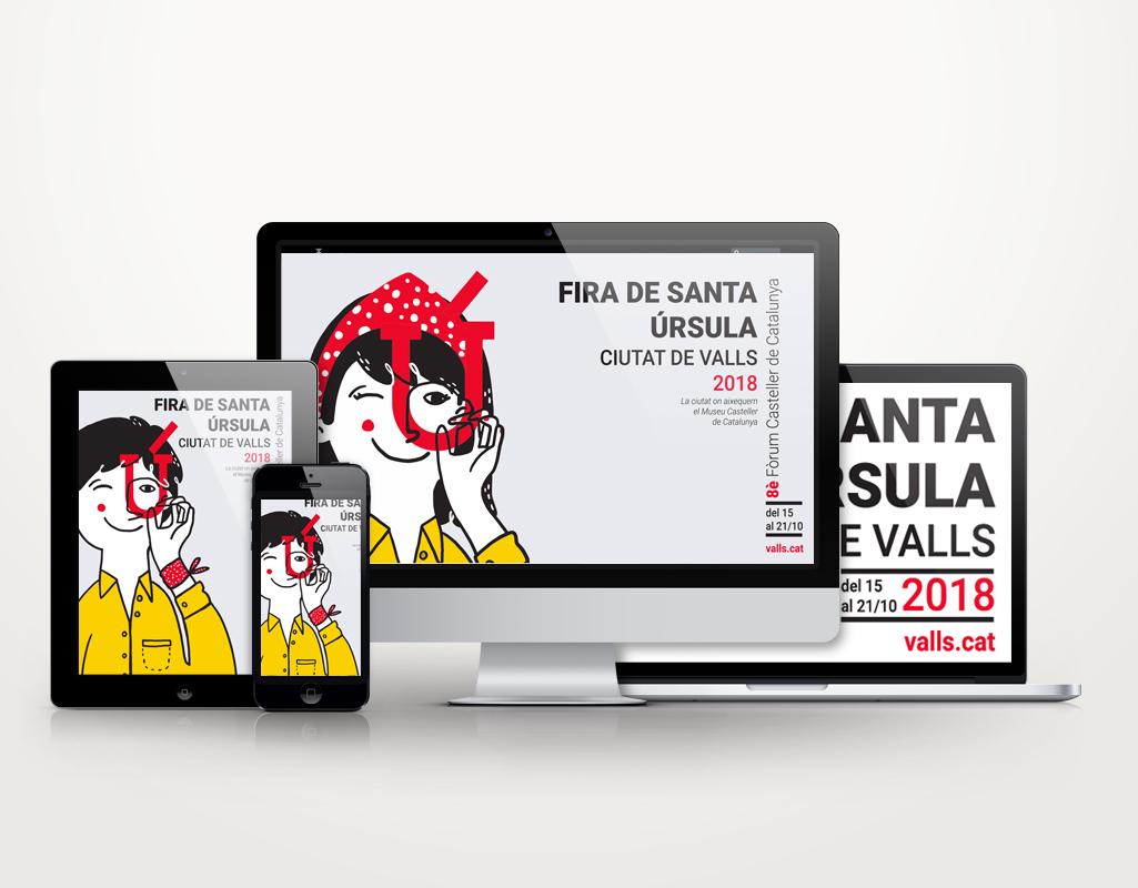 cartell de la fira de santa úrsula de Valls by andulluplandu